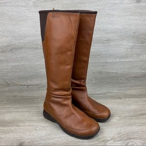 Teva Afton Tall Waterproof Brown Leather Boots 8